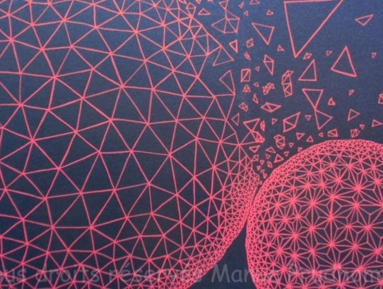 Cells #7, par Manue Prudhomme, Acrylique sur papier Canson, A3