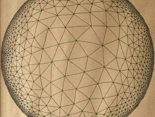 Cells #8, par Manue Prudhomme, feutre sur papier Kraft, A3, 2017