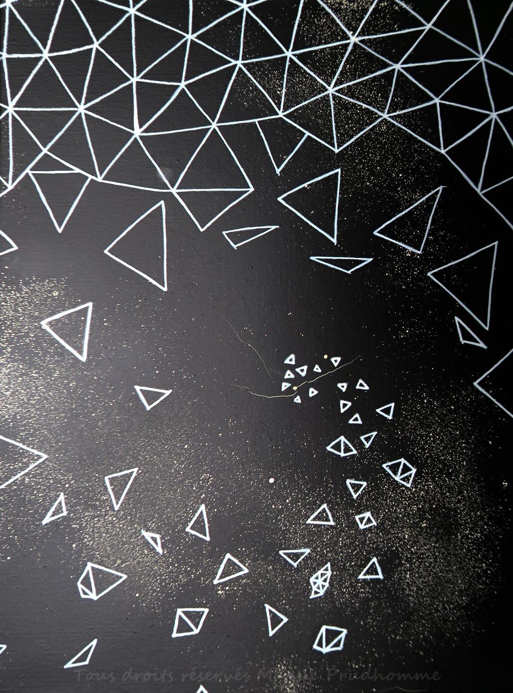 White spiral 3, marqueur huile,peinture en bombe,sur toile,2018